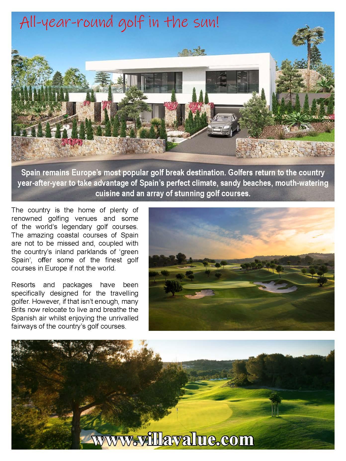your golfer magazine villa value spain